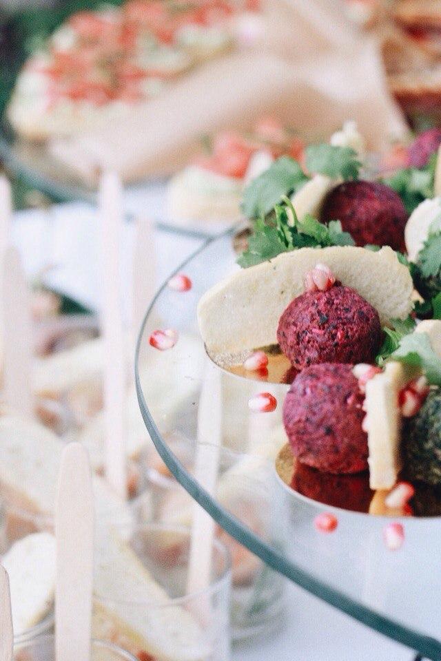 Свадебный фуршет в Оранжерее Таврического сада